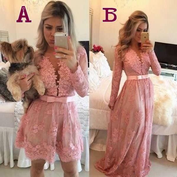 evening dresses 2018 sexy cheap robe de soiree short prom dresses long sleeve