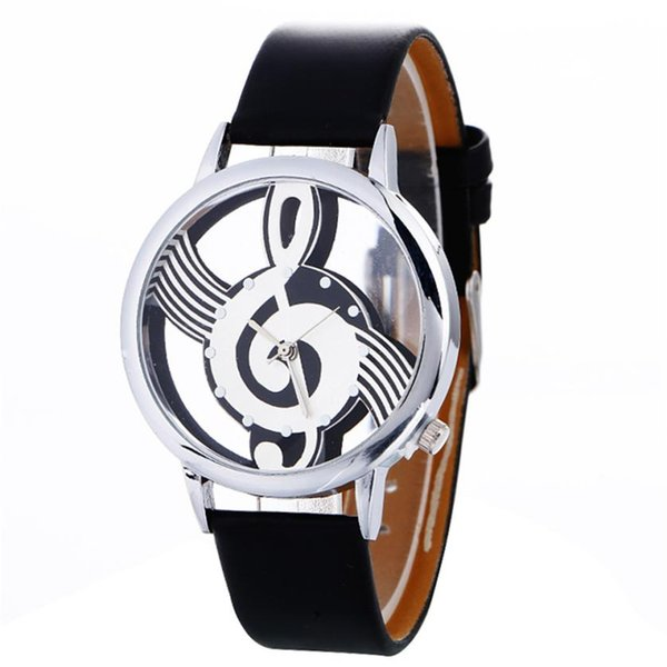 Women Watches Luxury Musical Note Painting Girl Quartz Watch Casual Leather Ladies Dress Watches Women Clock #D
