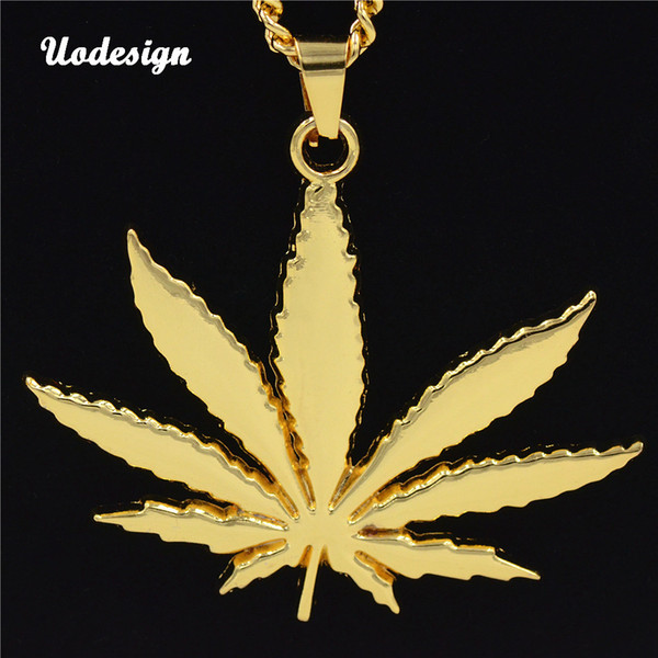 Hiphop Maple Leaf Pendant Necklace Jewelry Chain Necklace for Men