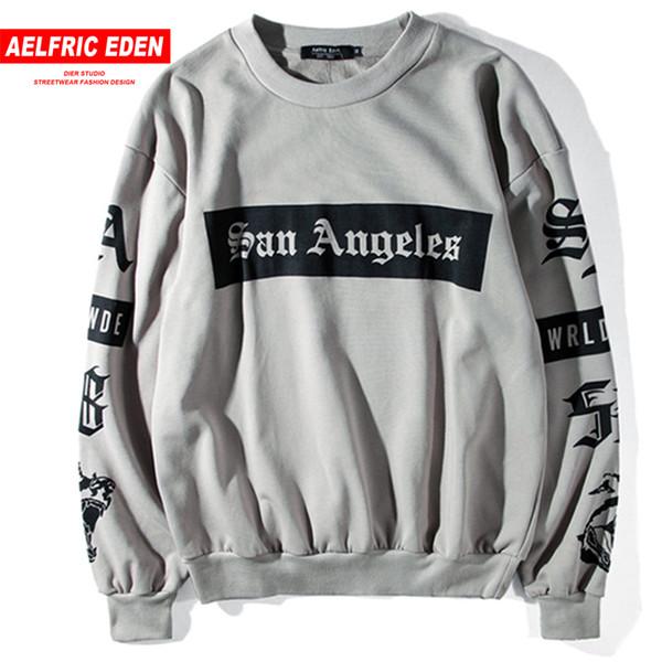Aelfric Eden Hoodie Male Sweatshirt Men Skateboard Tracksuit Hip Hop Clothing Oversized Kanye West Tiger Printed Swag Hoodies D18100904