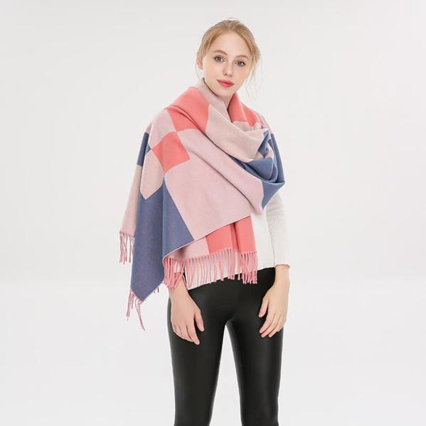 Womens Large Scarf Soft Cashmere Feel Pashmina Shawls Wraps Scarves Winter Warm Ladies Fashion Gift