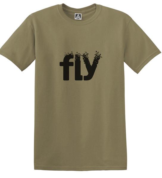 FLY Birds T-shirt Indie Slogan Positive Message Art Sketch Swallow Turn Teejersey Print t-shirt