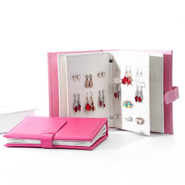 Portamonete portatile in pelle da donna, collezione di gioielli, collana di gioielli, orecchini, accessori per la conservazione