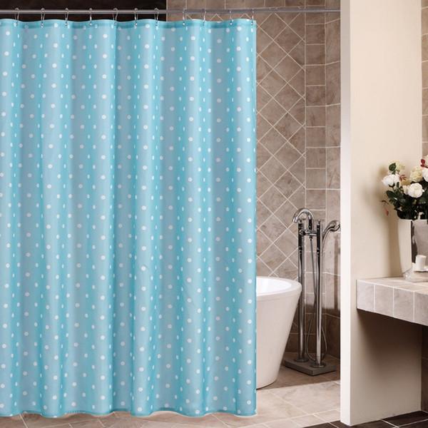 Accueil Moderne Étanche Rideaux de Douche Salle de Bains Produits Polka Dots Polyester Tissu Rideau de Douche avec 12 crochets