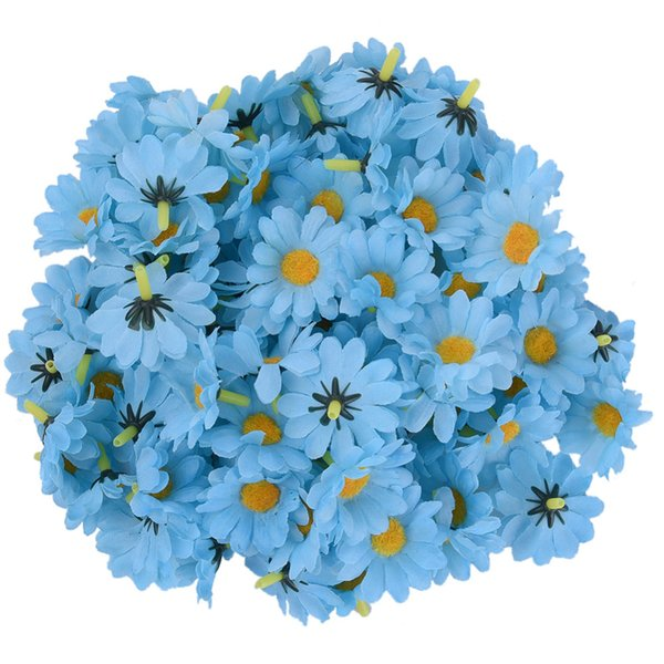 100pc/bag 9 Bright Colored Artificial Gerbera Daisy Heads Silk Flower Home Wedding Decor Bouquet Party Home Decoration 2017 New