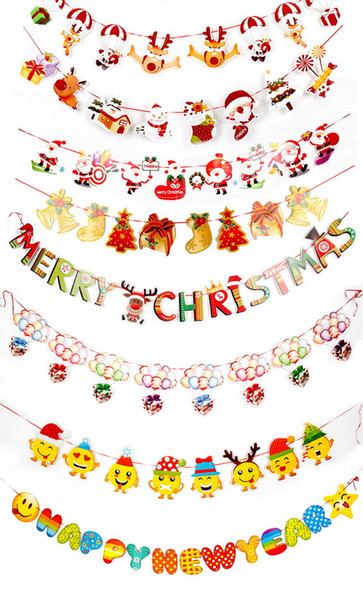Christmas Festival Cartoon Images.Christmas Decoration Supplies Cartoon Drawing Flag Christmas Festival Scene Layout Christmas Paper Flag Hanging Factory Direct Sale Best Deals On
