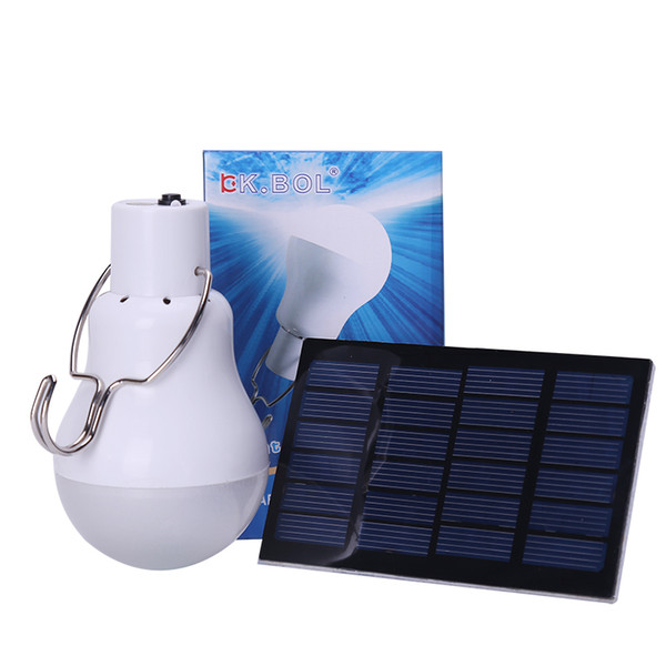 best selling Portable LED Bulb Light S-1200 15W 130lm Solar Energy Lamp Charged Useful Solar Camping Lamp Home Outdoor Lighting Hot