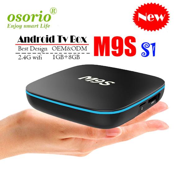 Nuovo M9S S1 Allwinner H3 Quad core Android 7.1 1GB 8GB Smart TV Box HDMI2.0 4Kx2K HD 2.4G Wifi Lettori multimediali in streaming BETTER X96 TX3 MINI