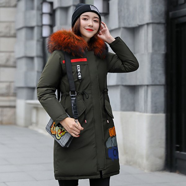 2019 Puffer Coat With Faux Fur Collar Plus Size Puffy Down Quilted Jacket Street Wear Winter Autumn Parka Womens Jackets And Coats From Fashionfirst