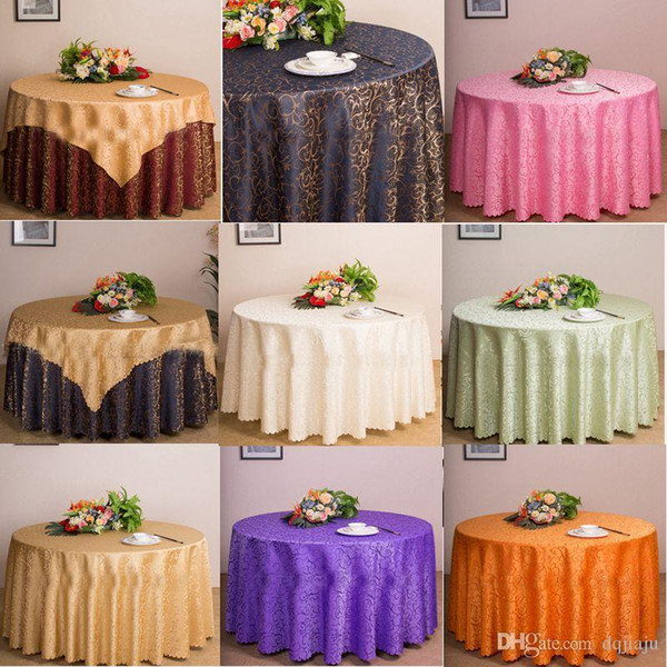 top popular Table Cloth Table Cover Round For Banquet Wedding Party Decoration Hotel Tables Fabric Table Wedding Tablecloth Home Textile 12 Colors 2020