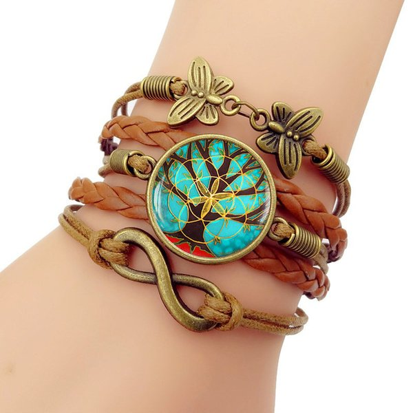 Bracelets & Bangles Viking Bracelet New 2018 Simple Fashion Men's Tree Of Life Time Gem Bracelet Vintage Jewelry Accessories