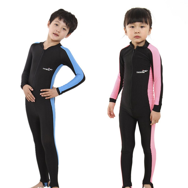 2018 Kids Diving Suits Children Swimwear Long Sleeves Girls Boys Surfing Snorkeling Swimming Wetsuit Outdoor Water Sports