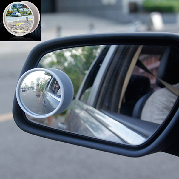 Black/White Pair Car Auto Universal Wide Angle Round Convex Mirror Car Vehicle Side Blind Spot Mirror Wide Rear View Small Round Mirror New