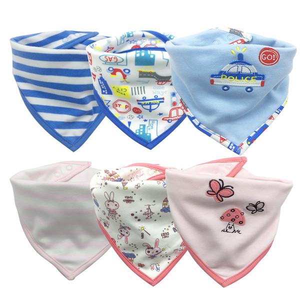 tender Babies Baby Bibs Waterproof Lunch Bibs Boys Girls Infants Cartoon Pattern Bib Burp Cloths For Self Feeding Care
