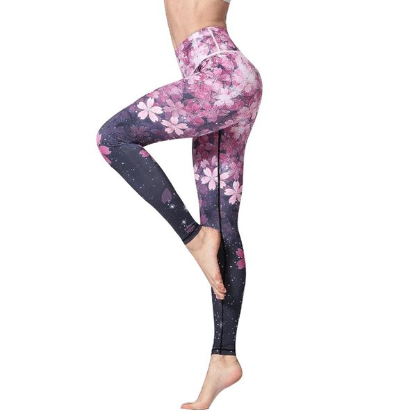 3D Digital Printed Yoga Leggings Women Flexible High Waist Fitness Sport Capri Pants Plus Size Jogging Tights S-XL