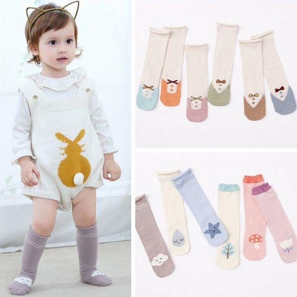 Move on Toddlers Kids Girls Knee High Socks Boys Cartoon Animal Cotton Warm Long Socks