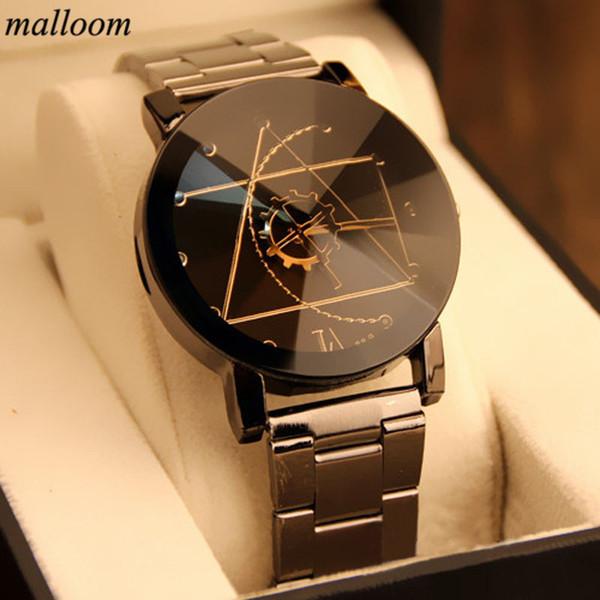 Malloom Fashion Mens Watches Top Brand Luxury Watch reloj de cuarzo analógico de acero inoxidable Relogio Masculino Montre Homme