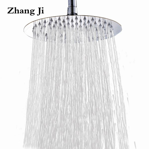 25cm big round rainfall shower head Bathroom fixture 10'' high quality stainless steel waterfall shower nozzle New ZJ051