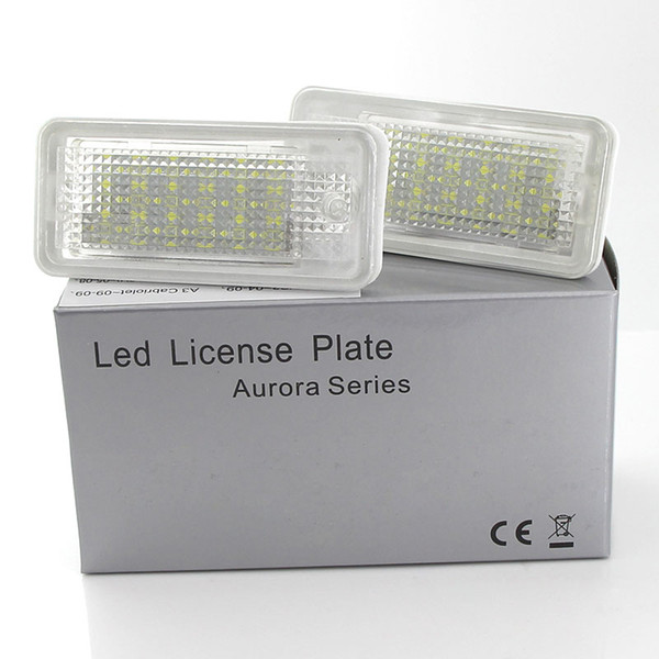 2x White LED license Plate lights For Audi A3 S3 A4 S4 B6 B7 A6 S6 A8 Q7 NO Error Canbus license Number Plate lights Bullb 12V