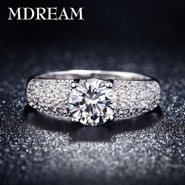 Wholesale- silver plated ring for women with many Austrian Crystal Charm Fancy elegantrings jewelry New Arrival LSR024
