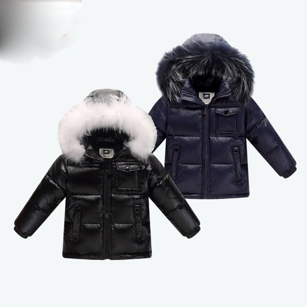 winter down jacket parka for girls boys coats , 90% down jackets children's clothing for snow wear kids outerwear & coats