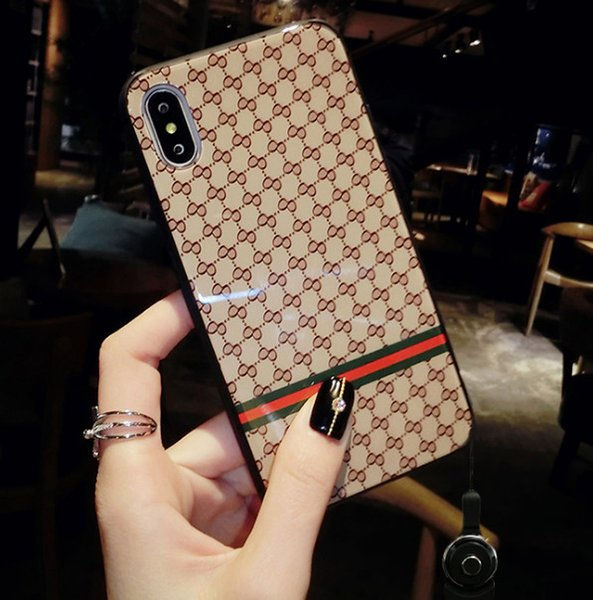 The new 8plus mobile phone case hanging rope web celebrity is the same as the 6s, which is fully covered against falling 7p in Korea