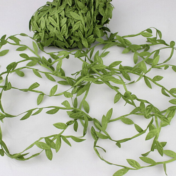 Hot Sales 20m Artificial Green Flower Leaves Rattan DIY Garland Accessory For Home Decoration hairbands headband hairflowers