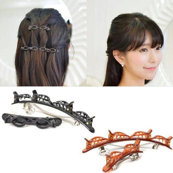 2pcs/set hair clip barrettes hairpins hairgrips for Women girl Hair Accessories headwear holder bun bang simple easy use wave design
