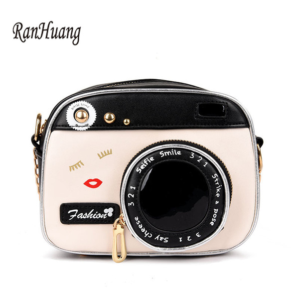 RanHuang 2018 Women Mini Shoulder Bags Fashion Flap Camera Design Leather Messenger Bags Women's Vintage Crossbody Bags A1042 D18102407