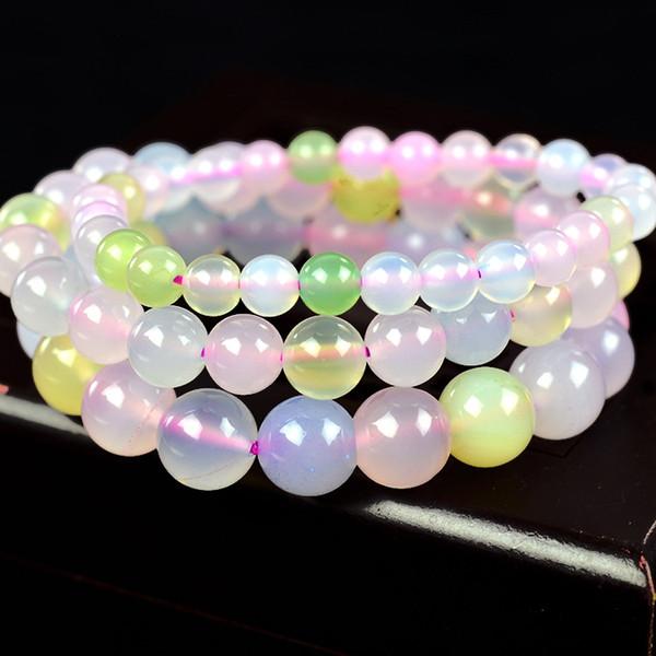 Natural Brazil Morgan Agate Beads Bracelet GemStone Beaded Elastic Line Bracelet Men Jewelry Women Can Drop Shipping