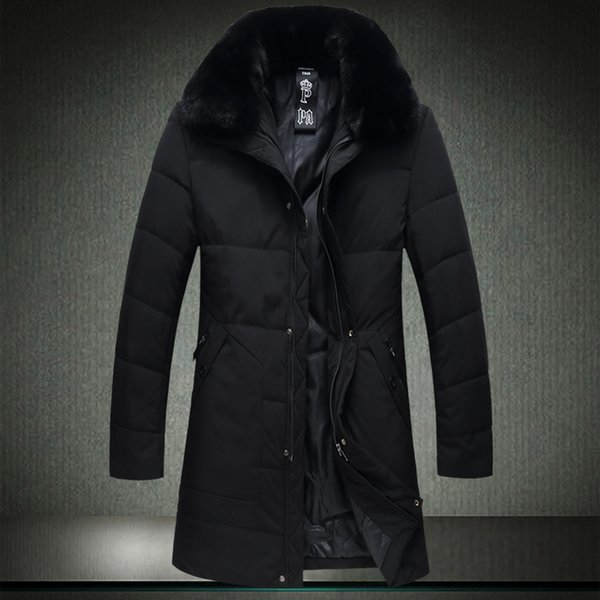 Oversized 7XL 6XL Men Winter Long Jacket 2018 Winter Parkas Cotton Cotton Male Wadded Jacket Fur Collar Windbreak Coat A1812