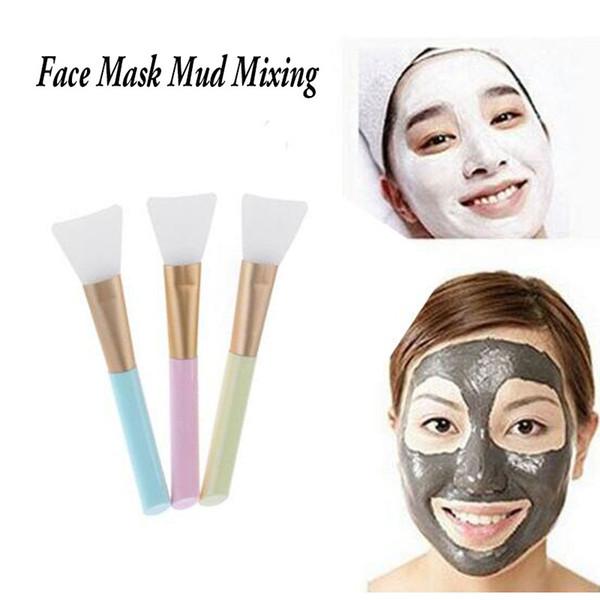 Professionale facciale in silicone Maschera fango Strumenti di miscelazione Cura della pelle Spazzole per trucco di bellezza Strumenti per fondotinta maquiagem