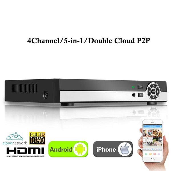4CH Super XVR All HD 1080P 5-in-1 DVR 4 channel CCTV Surveillance Video Recorder HDMI output with AHD/Analog/Onvif IP/TVI/CVI Camera
