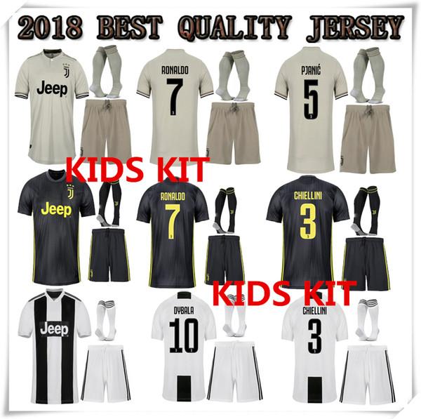 CR7 2018 2019 ronaldo juventus kids kit jersey home 18 19 MANDZUKIC MATUIDI  HIGUAIN DYBALA D d271c07e8