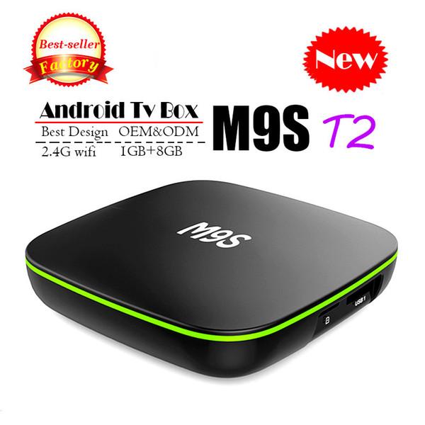 2018 Cheapest M9S T2 Android 7.1 Tv Box Quad Core 1GB 8GB H3 Chip Support Wifi 4K 3D Media Player Smart Tv Box Better X96 MINI H96 T95Z