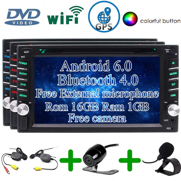 EinCar Wireless Backup Camera Android 6.0 Car Stereo External Micro Double Din 6.2'' Touchscreen Car DVD Player In Dash Bluetooth GPS