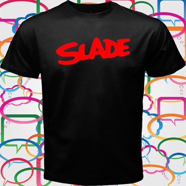 SLADE Englisch Rock Band Legend Männer Schwarz T-Shirt Größe S bis 3XL Lustige kostenloser Versand Unisex Casual Tee Geschenk