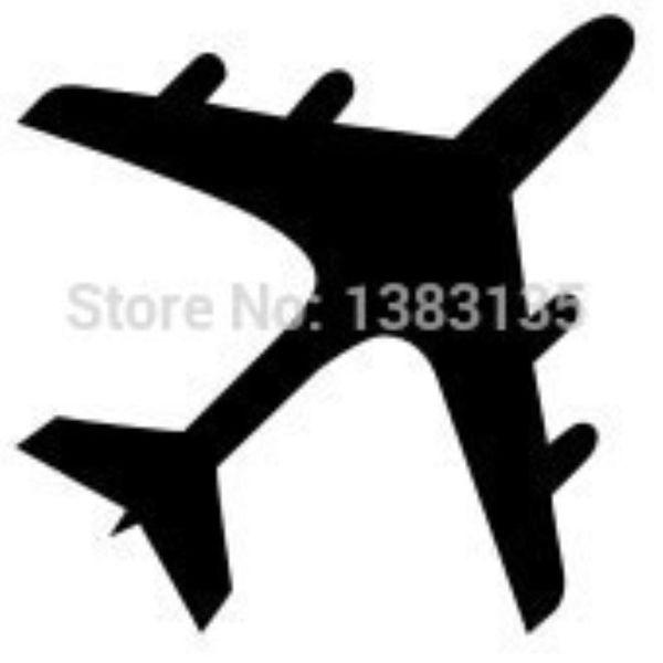 HotMeiNi Wholesale 20pcs/lot Fashion Airplane Silhouette Car Sticker For Truck Window Bumper Auto SUV Door Kayak Vinyl Decal 8 Colors