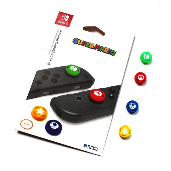 best selling 4 Pcs Silicone Analog Thumb Stick Grips Caps For Nintend Switch NS JoyCon Controller Sticks Cap Skin for Joy Con Cover