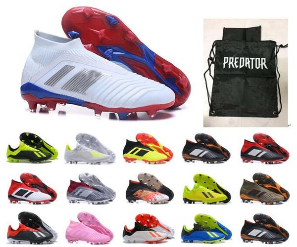 2019 дети мужские футбольные бутсы Predator accelerator mania 18.1 FG обувь высокая лодыжки футбол