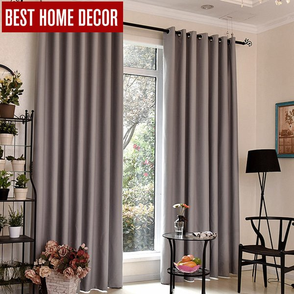 2019 Bhd Modern Blackout Curtains For Window Treatment Blinds Finished Drapes Window Blackout Curtain For Living Room The Bedroom From Chinasmoke