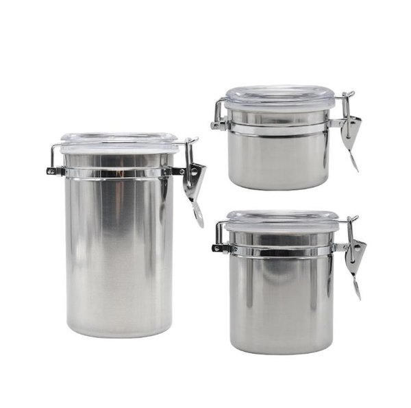 top popular Stainless Steel Sealed Cans Moisturizing Medium and Small Sealed Storage Tank 2019