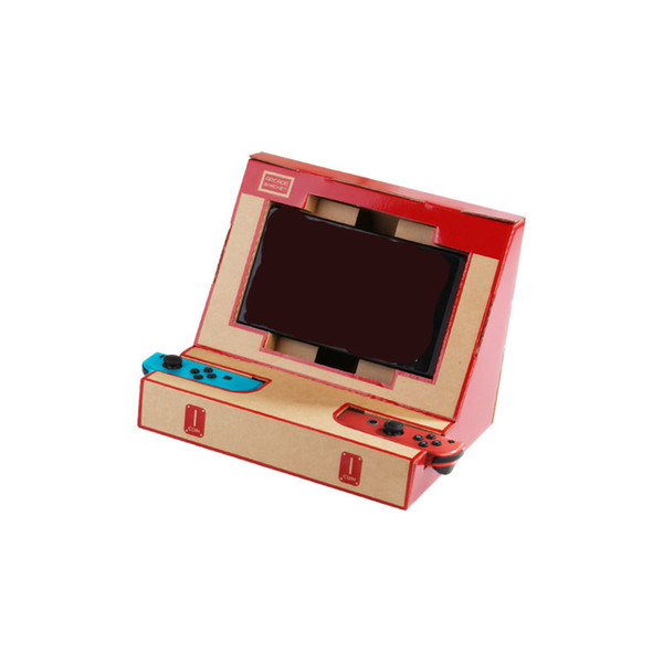 top popular Best Selling DIY Labo Cardboard Game Holder Kit Arcade Bracket Foldable Stand for NS Switch Educational Toys for Boys Gaming Accessories 2020
