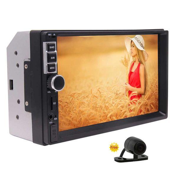 Eincar Car Radio 7'' Digital Capacitive Mulit-Touch Screen Double Din Car Video MP5 Player Bluetooth/AV In/FM Radio/USB/TF/Cam-In/SWC