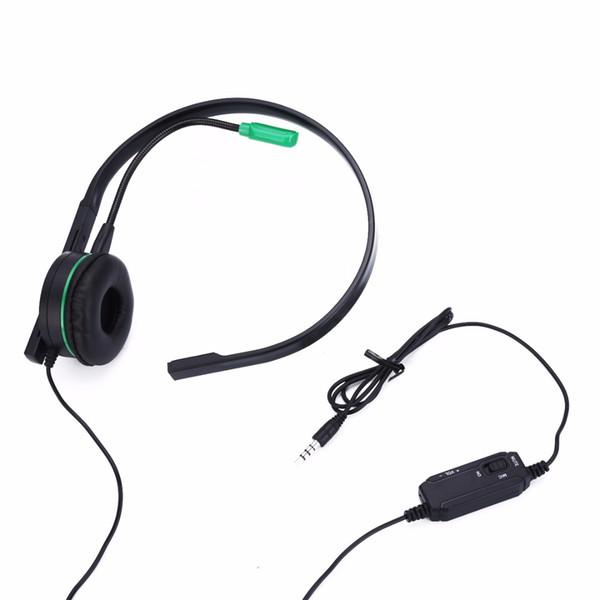 Nouvelle Arrivée 1 pc Monaural Pro-Face Pro Gaming Headset Noir Écouteur Pour XBOX ONE PS4 Avec Mic Mayitr