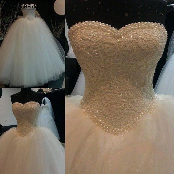 Venta al por mayor Vestidos de boda del cordón de la vendimia de ...