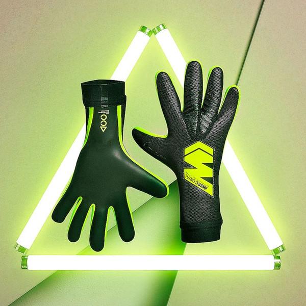 best selling Newest 2019 Official NK Logo Mercurial Soccer Goalkeeper Gloves Antiskid Goalie Gloves ALLCondition Control Goal Keeper Gloves Luva De Golei