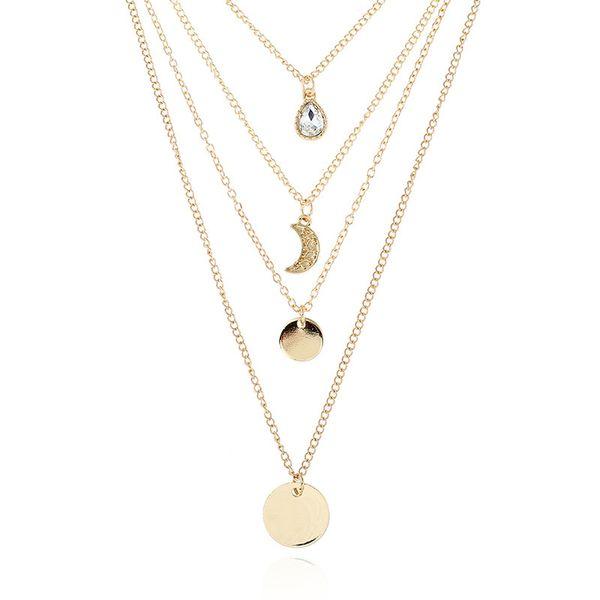 Мода Новолуние Падение Металла Ожерелье Instagram Приток Уличной Съемки Кулон Ювелирные Изделия Оптом