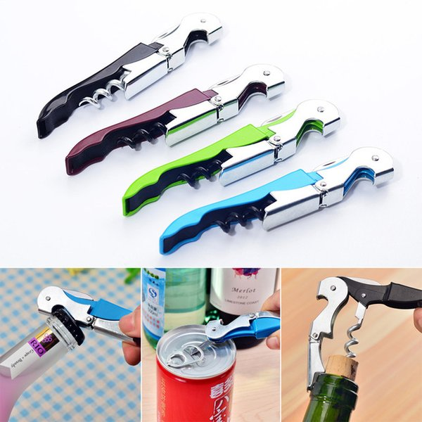 2018 cork crew wine bottle opener  multi color  double reach wine beer bottle opener home kitchen tool