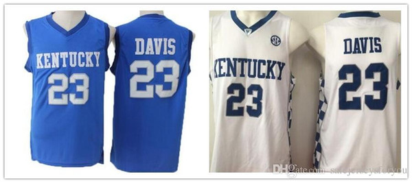 2019 Discount Dwayne Men Style 23 Anthony Davis College Jerseys Kentucky Wildcats Men Basketball Uniforms For Sport Fans Hot Selling From